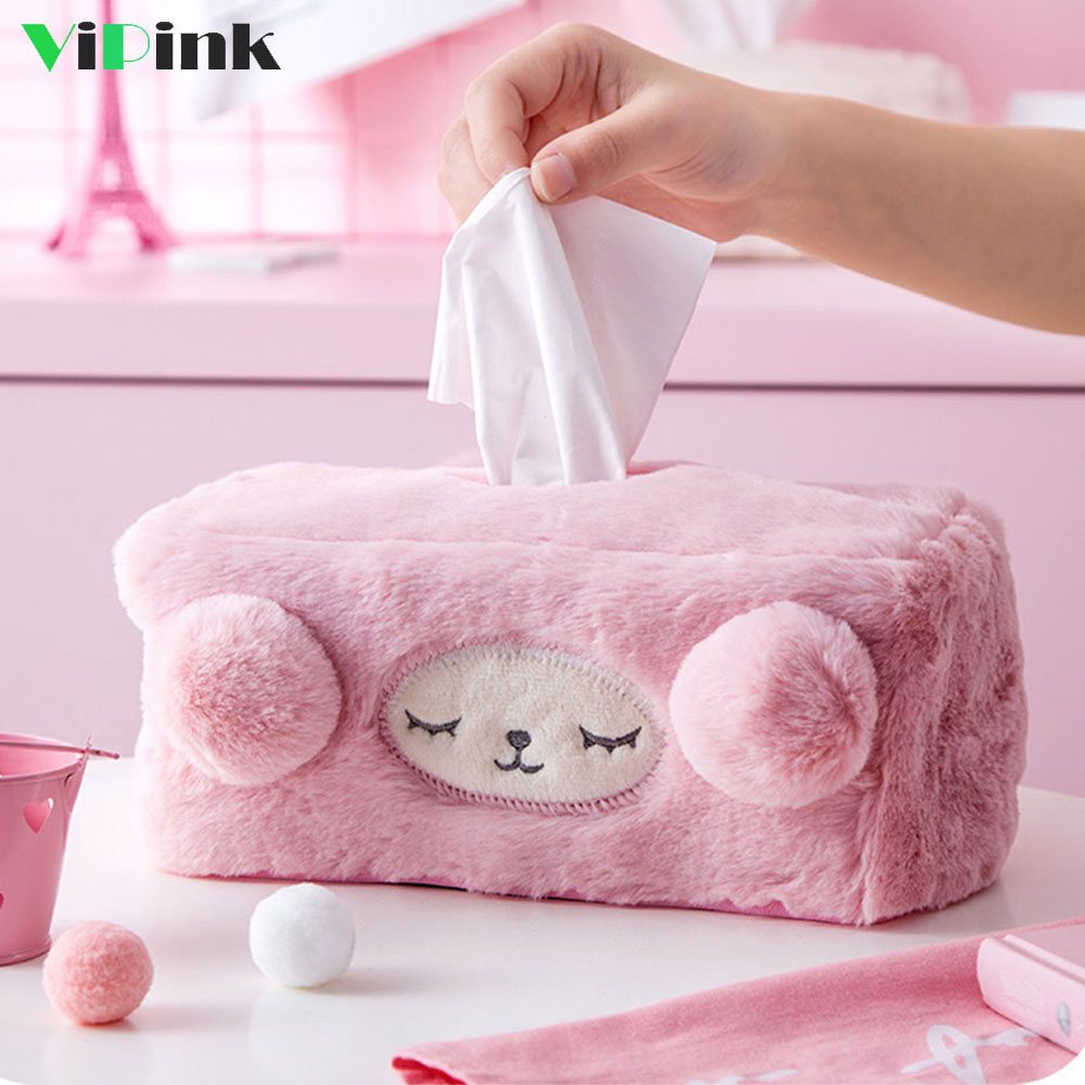 Cute Animal Tissue Box Holder For Car Plush Sheep Paper Container Cover Napkin Dispenser Case Home Kitchen In Bo From