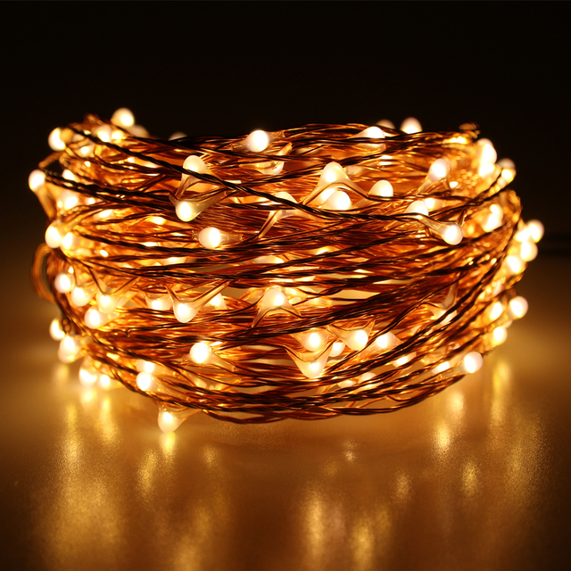 super popular 646cd 4101b US $17.99 |20m 200 LED Outdoor Christmas Fairy Lights Warm White Copper  Wire LED Starry Lights String Light Power Adapter(UK,US,EU,AU Plug)-in LED  ...