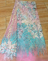 2017 Latest High Quality Nigerian French Net Guipure Tulle Lace With Beaded Stones African Fabrics For