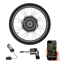 Electric Wheel 24V350W Motor Wheel with 2 Battery Electric Bicycle Conversion Kit for 26 27.5 700C Front Wheel Hub Motor