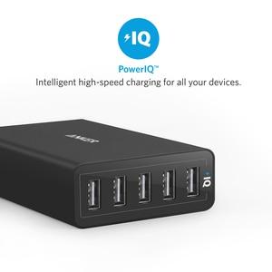 Image 5 - Anker 40 واط 5 Port USB الجدار شاحن ، PowerPort 5 آيفون ، باد برو/الهواء ، غالاكسي S9/S8/حافة/زائد ، ملاحظة 8/7 ، نيكزس HTC LG وأكثر من ذلك