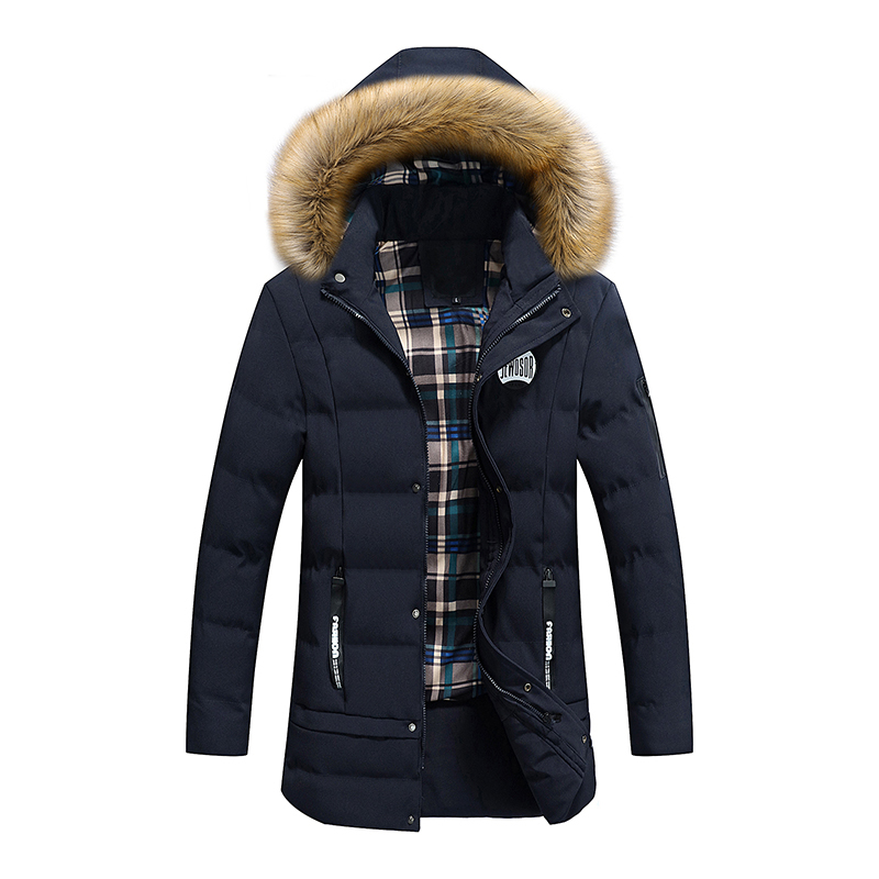 Bolubao New Men Winter Jacket Fashion Brand Thick Warm Down Parka Outerwear Padded Long Coat Male Fur Removable Hood Down Parkas 2016 new fashion men winter down jacket men parka coat thick warm cotton padded jacket mens winter coat jacket parka men 98