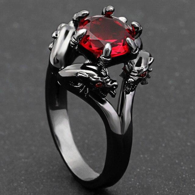 Кольца hainon с черным пистолетом крутые мужские кольца драконом