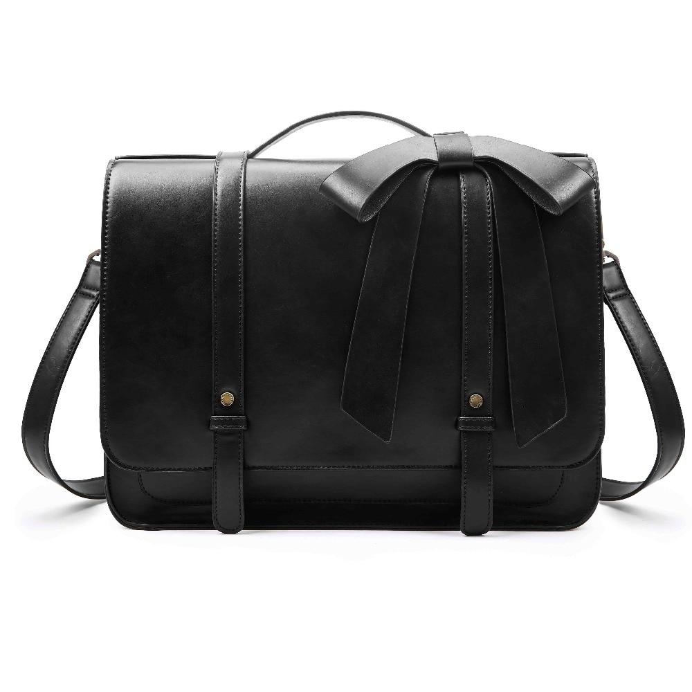 e97b0144f3 ECOSUSI New Fashion Women PU Leather Handbags Vintage Pu Leather Messenger  Bags Shoulder School Laptop Messenger Bags Tote Bag