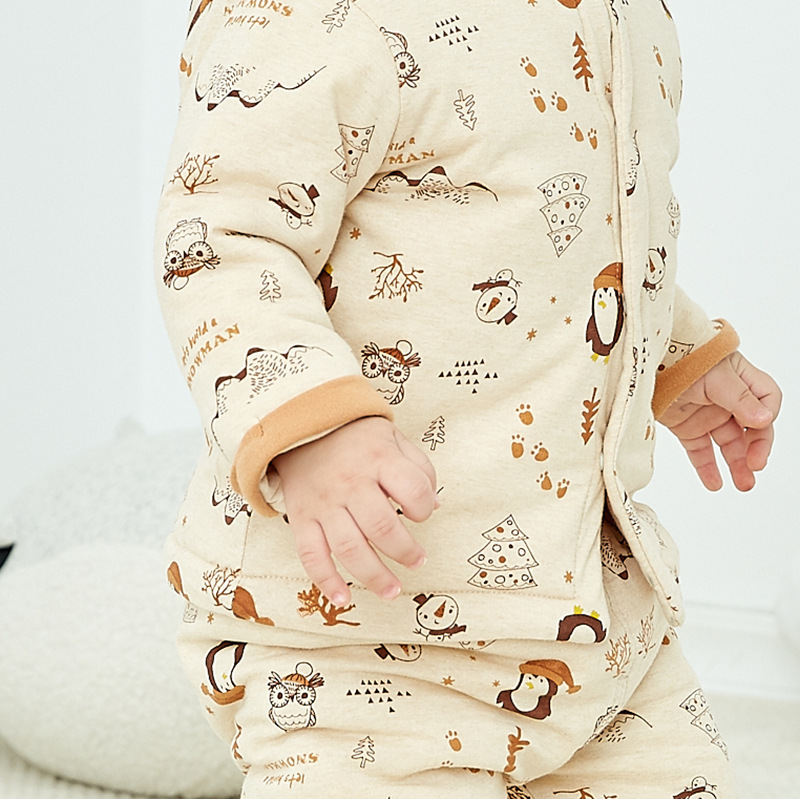 2018 winter new baby Boys Girls Clothes Warm Cartoon cotton Babys Sets HL1-HL11