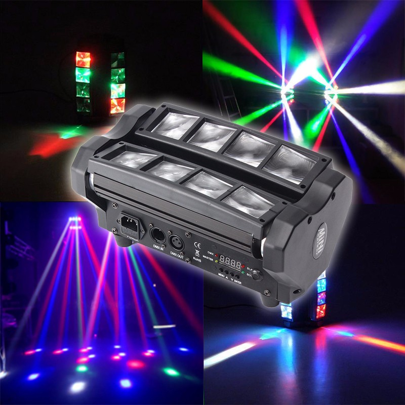 90W 4 In 1 LED RGB Stage Lighting Effect DMX512 Beam Moving Head Spider Light DJ Party Disco Bar KTV AC90-240V loqi urban