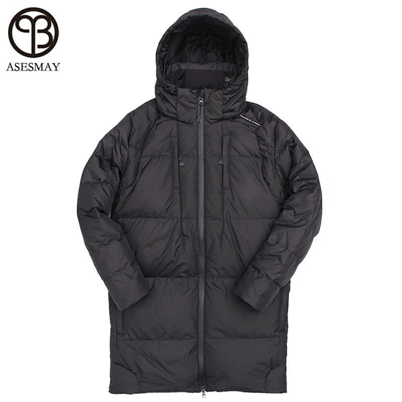 Asesmay 2017 Brand Men Winter Jacket Duck Down Jackets Mens Parka Wellesteyn Thick Warm Casual Long Men Down Coat High Quality