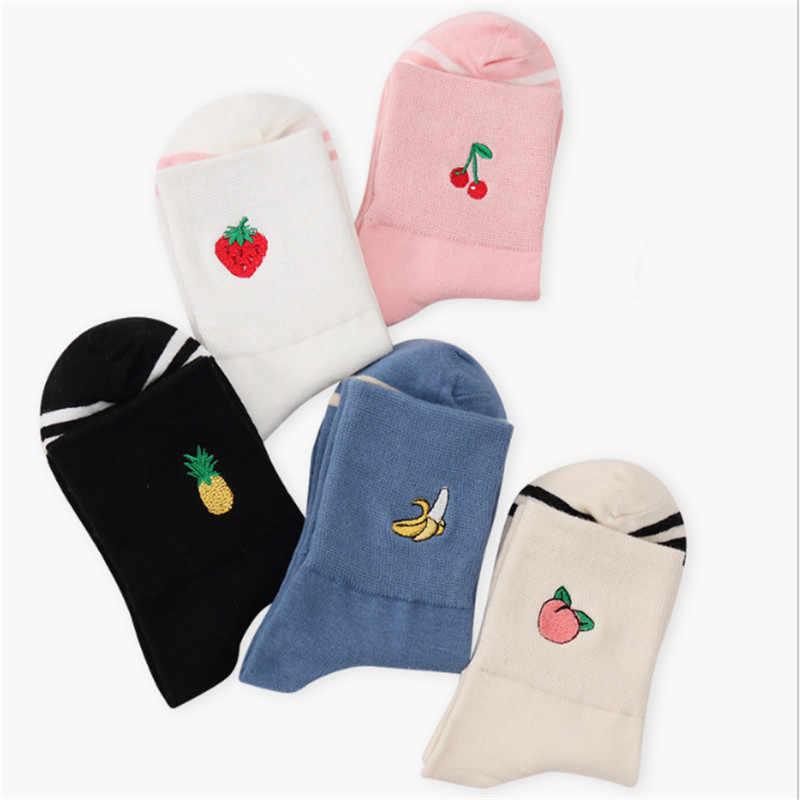 d729ef1fb22 ... CRAZY FLY 2019 Winter Banana Cotton Women men Kawaii Fruit Crew Socks  Cute Harajuku Street ...