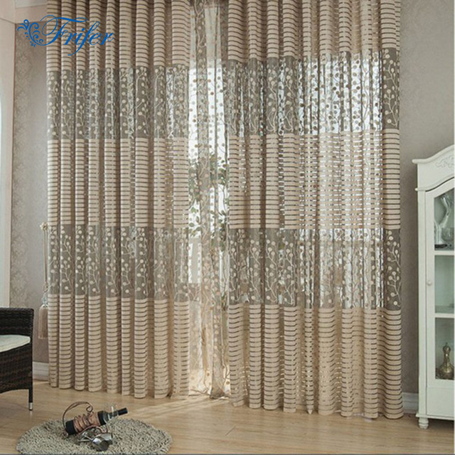 Leaves Plants Print Jacquard Shower Curtains for Home Decorations ...