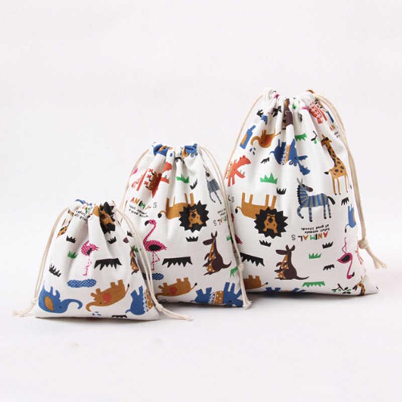 1 шт. 3 шт./компл. тряпичная Сумочка Сумки для покупок на шнурках Animale детская одежда с принтом, с надписью mom's Love конфеты подарочные пакеты Сумочка унисекс Cluch