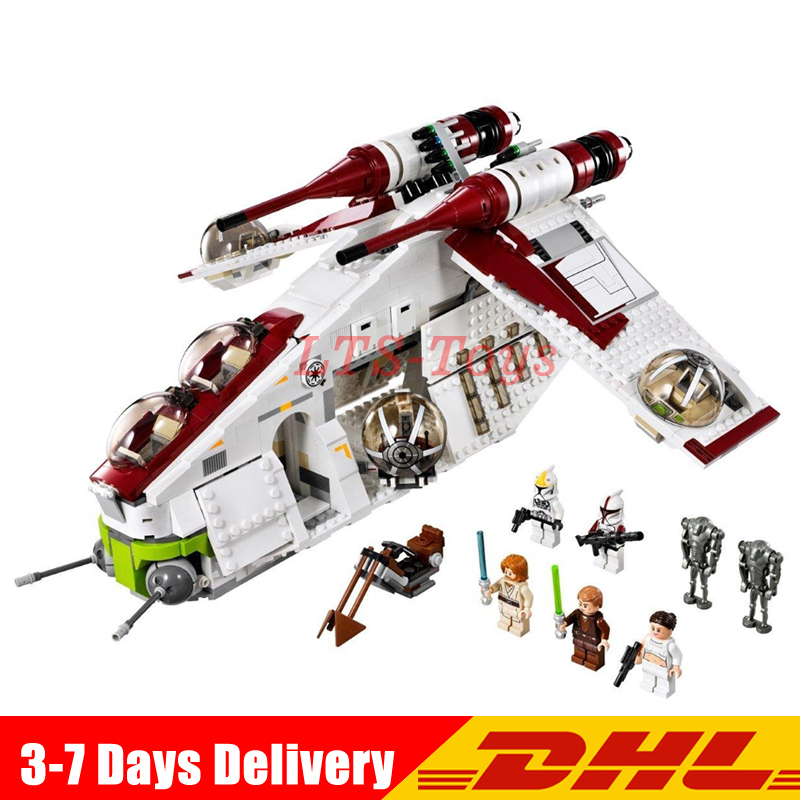 In Stock LEPIN 05041 1175Pcs Star War Republic Gunship Model Building Kits Set Blocks Bricks Compatible Toys Gift 75021 2015 high quality spaceship building blocks compatible with lego star war ship fighter scale model bricks toys christmas gift