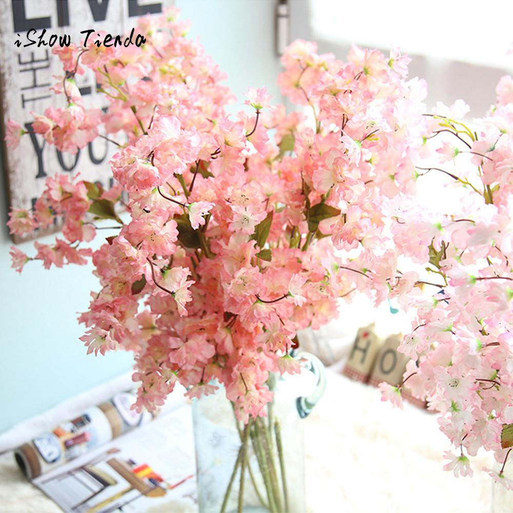Artificial Fake Cherry Blossom Silk Flower Bridal Hydrangea Home