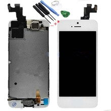 Hot sale For iphone 5S LCD Digitizer Camera home button Sensor and Touch Complete Screen with