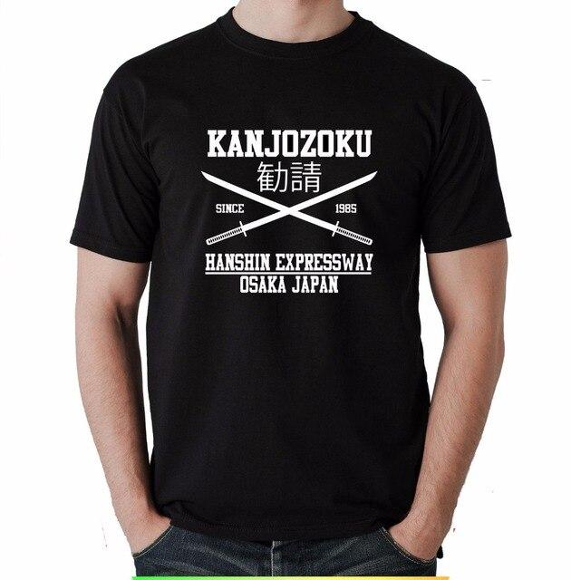 Verano 2019 manga corta talla grande impresión hombres camiseta verano Kanji Junkyoku Tokyo muñeca japonesa camisetas divertidas