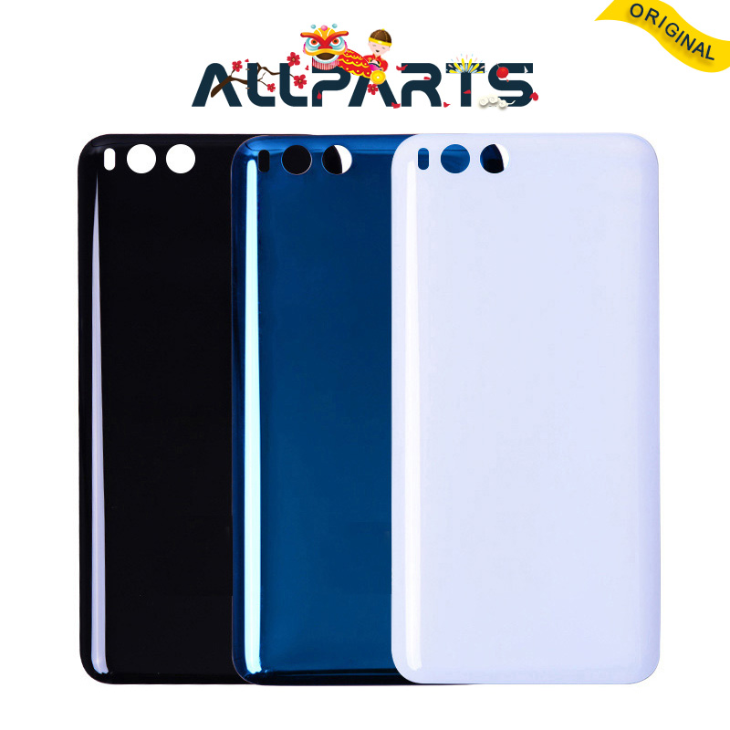 New Rear Housing For XIAOMI Mi6 Back Cover Mi 6 Glass Replace Mi6 Battery Door Case Black White Blue Replacement