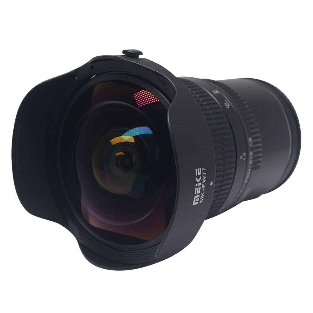 Objectif Fisheye grand Angle Meike 8mm f/3.5 pour appareil photo Sony Alpha et Nex sans miroir avec APS-C plein format