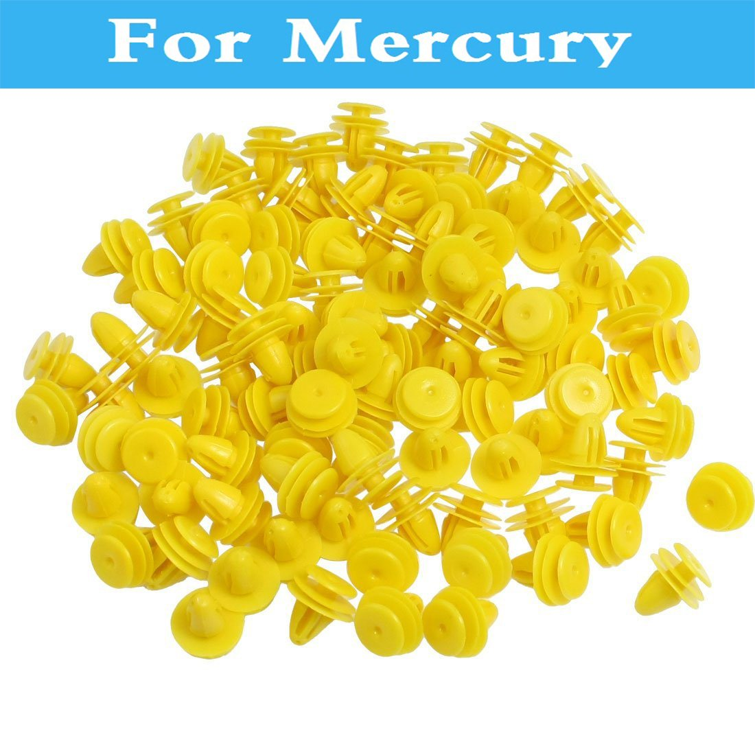 Vehicle Car Styling Door Trim 9mm Hole Plastic Rivets Yellow 50pcs Universal For Mercury Mariner Montego Milan Grand Marquis