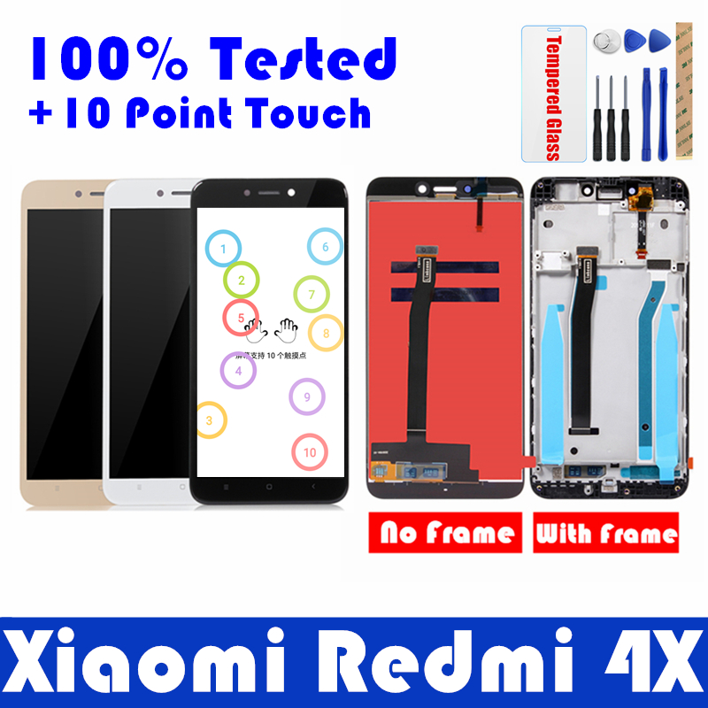 3c55f987c Xiaomi Redmi 4X LCD Display with Frame Screen 10 Touch Panel Redmi 4X LCD  Display digitizer
