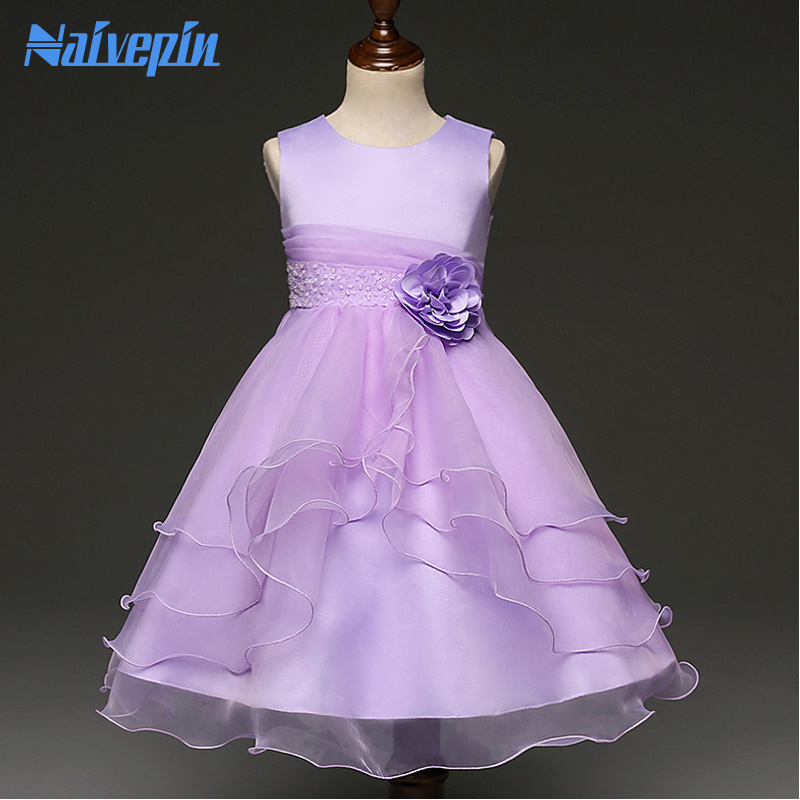 Flower Princess Tutu Dresses for Wedding Girls Clothes New Year Party Kids Wear Ceremonies Birthday Ball Gown Dress Costumes christmas international children s day costumes girls dresses for princess new year birthday dress snow queen kids clothes
