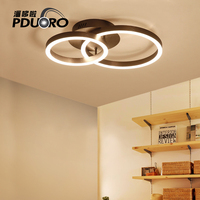 Nordic Circular Ring Chandelier Modern Led Ceiling Chandelier Lamp Fixtures Remote Control For Living Room Bedroom