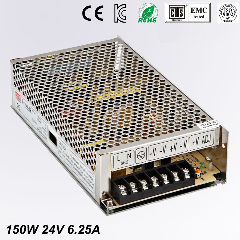Single Output Uninterruptible Adjustable 24V 150W Switching power supply unit 110V 240Vac to dc smps for LED Strip light cnc 400w 24v 16 7a single output adjustable ac 110v 220v to dc 24v switching power supply unit for led strip light