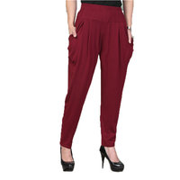 WAEOSLA Summer Woman Casual Pants Red Gray Black Modal Trousers Spring Middle Aged Womens Comfort Harem