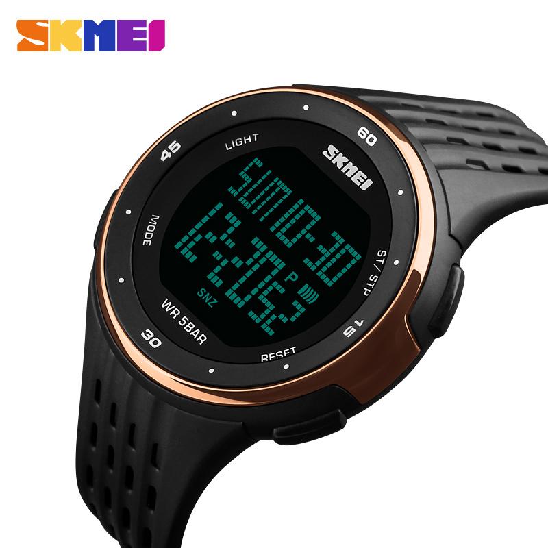 Prix pour Skmei de luxe hommes sport montres étanches numérique led militaire montre mâle sport électronique montre-bracelet horloge relogio masculino