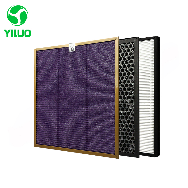 Economical Cleaner Filter Kits Multi-function Screen+Activated Carbon Filter+HEPA Filter for AC4002 AC4004 AC4012 Air Purifier ac4121 ac4123 ac4124 filters kit for philips ac4002 ac4004 ac4012 air purifier parts