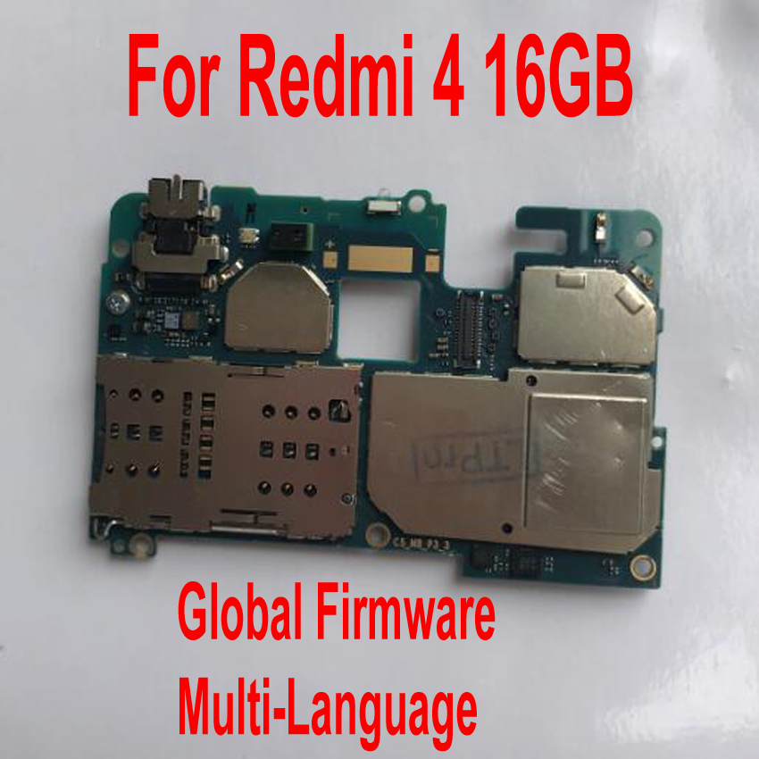 Carte mère de déverrouillage d'origine pour Xiaomi Redmi 4 Hongmi 4 Pro carte mère frais Circuit câble flexible accessoires ensembles Global Firmware