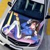 Custom Made Car Accessories Japanese Car Stickers Decals 3D Anime Game Overwatch D VA Hood Sticker