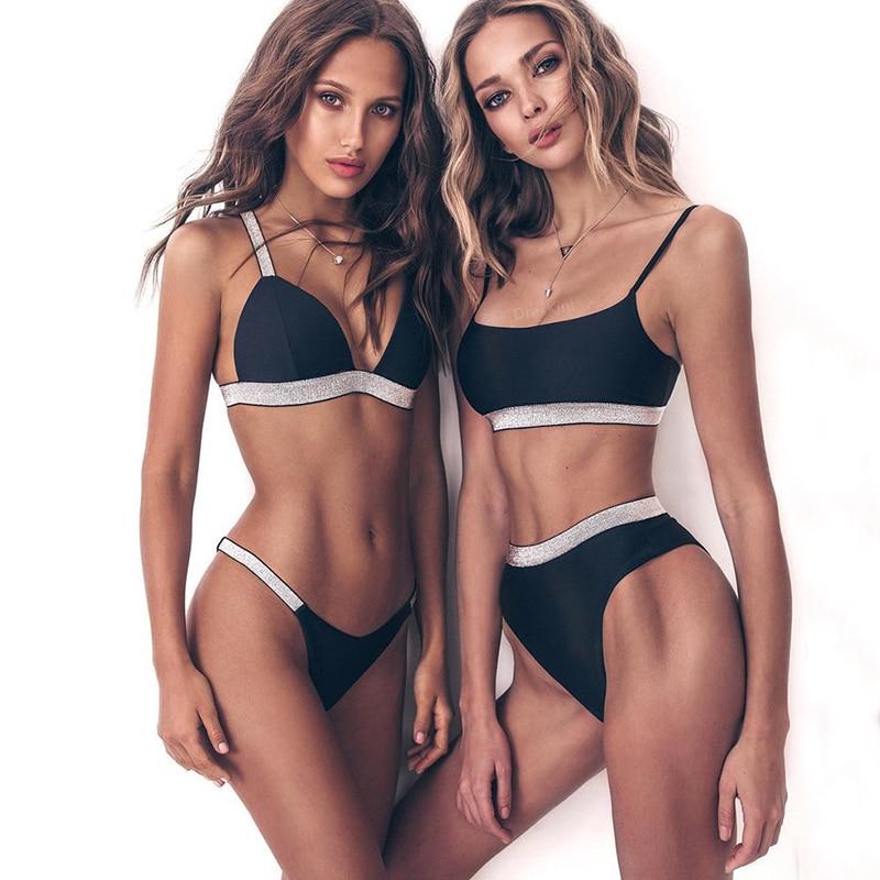 Sexy Micro Bikinis 2019 Women Push Up Swimwear female bathers Bathing Suit Sequin Bikini Set Triangle Swimsuit Beach Biquini