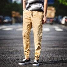 Мужская Повседневная Брюки мужские Джинсы Брюки Харун Брюки Ноги брюки Луч Мужчины Молодые люди Свободные Ноги Штаны Мужские джинсы
