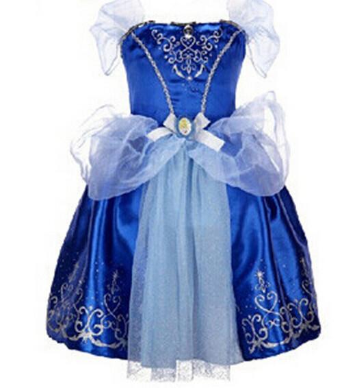 DB23655 Children Girl princess sofia dress-11