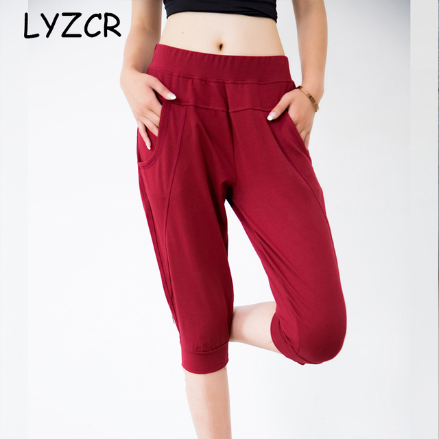 Women's Summer Harem Pants Capris Plus Size 5xl 6XL 7XL Loose Mom Red Black Pants For Women Elastic Waist Ladies Pants Big Size