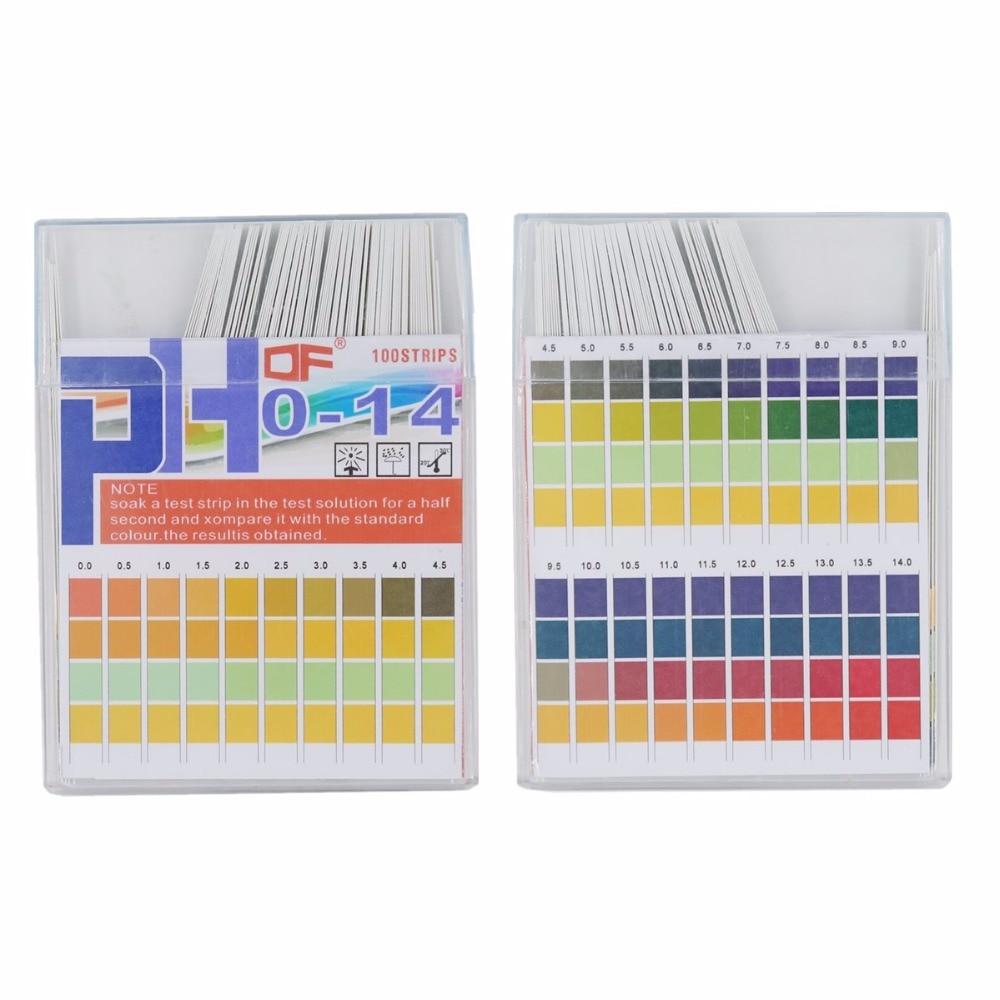 Universal PH Test Paper Strips For Test Body Acid Alkaline PH Level, Aquariums, Drinking Water,  Measure Full Range 0-14  20%OFF