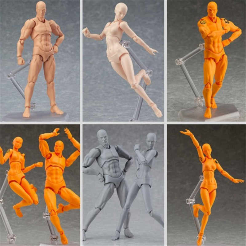 2019 Anime Archetype Hij Ze Ferriet Figma Movable BODY KUN BODY CHAN PVC Action Figure Model Speelgoed Pop voor Collectible drop