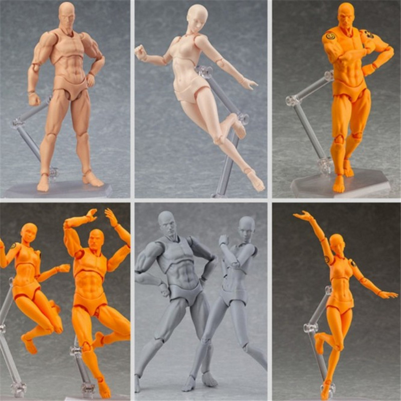2019 Anime Archetype He She Ferrite Figma Movable BODY KUN BODY CHAN PVC Action Figure Model Toys Doll For Collectible Drop