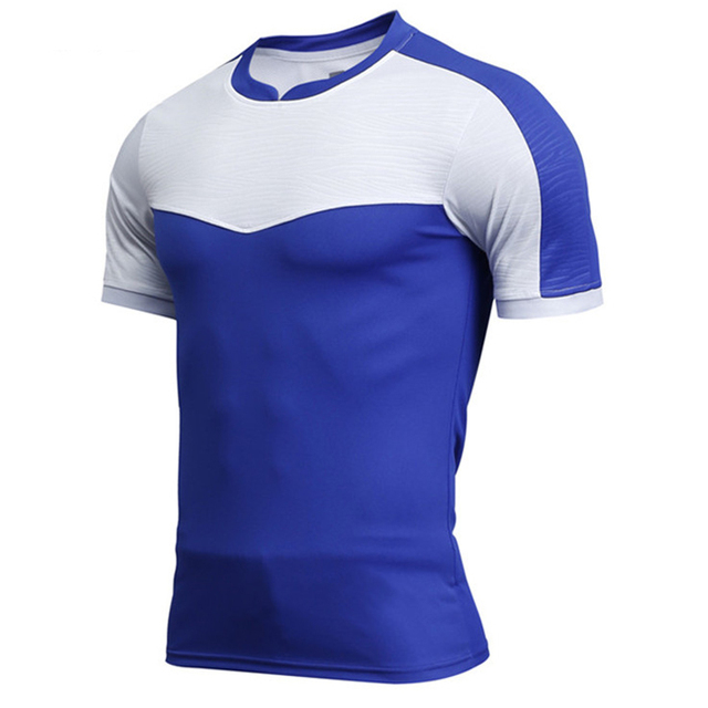 54b16d769 High quality Men's Soccer Jesery Quick Dry 2018 New Football shirts Youth  Sport Short sleeve Training Jersey Customized name LOG