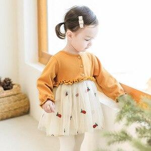 Image 4 - Niemowlę ubranka dla niemowląt noworodek chrzest sukienka dla dziewczynek odzież haftowana truskawka Princess Party świąteczne sukienki do chrztu