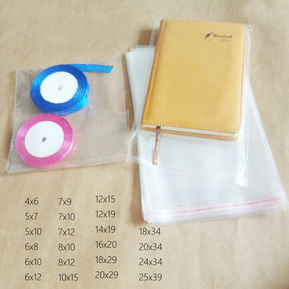 10000pcs Opp Bag Self Adhesive Clear Transparent Bags For Women Cloth Gift Jewelry Pouch Small Plastic