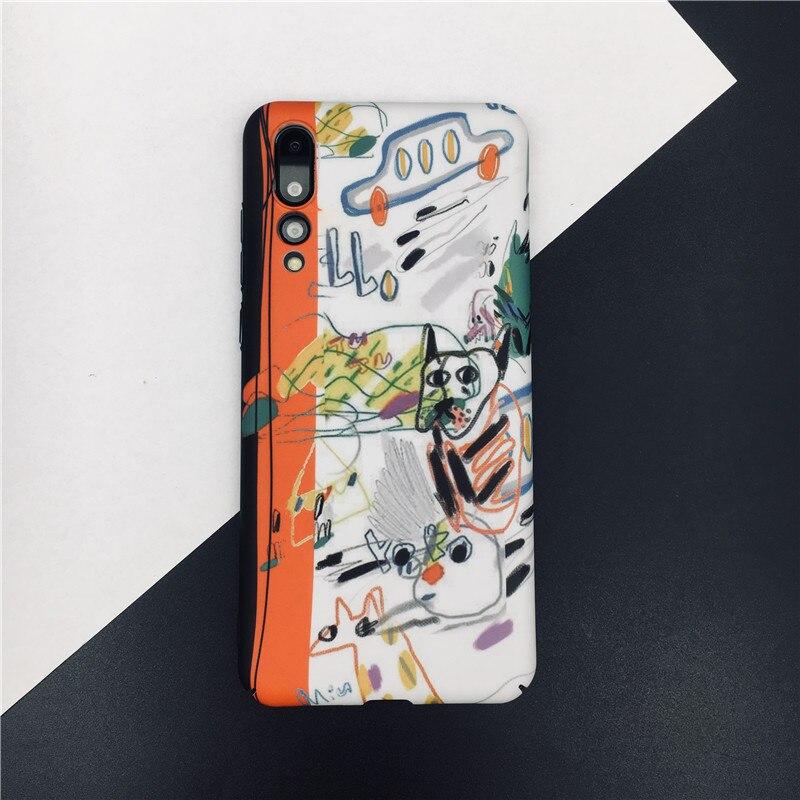 809dda8b463 Meachy Art Graffiti Phone Case For Huawei P20 Pro P20 Lite P20 P10 Plus  Honor 9 ...