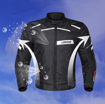 Brand New LYSCHY high quality Winter Oxford Motorcycle Jacket men Warm Black Reflective Motorbike Waterproof Motocross Clothing