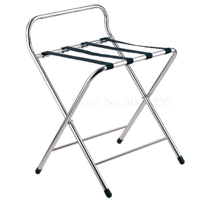Hotel luggage rack stainless steel rack hotel room folding luggage clothing tray rack home office - Цвет: VIP 3