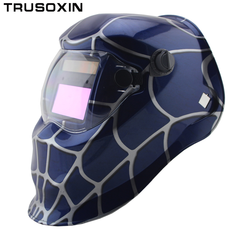 Spider Replaceable li battery and solar auto darkening grinding welding mask/helmet  for ARC TIG MMA machina or plasma cutter welding parts solar auto darkening grinding tig mig mma arc welding mask helmet welder cap for welding machine or plasma cutter