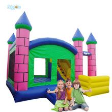 Custom House Shape Inflatable Bouncers Bounce Castle with Slide for Sale