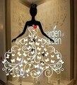 Etiqueta da janela Roupas vestido de noiva loja de publicidade janela de vidro linda menina lady mulheres adesivo decorativo adesivo de parede