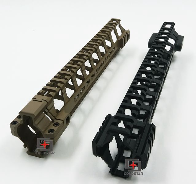 12 BLK/Tan Hunting Rail Ultra-light Weight Aluminum One Rail 12 inch Float Handguard Picatinny Rail for AEG M4 M16 AR15 hunting picatinny rail 4 25 inch handguard rail cqb tactical rail systems for aeg m4 m16