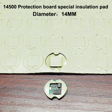 100pcs/lot 14500 Lithium Battery Pack High Temperature Insulation Double-sided Rubber Board Special Gasket цена