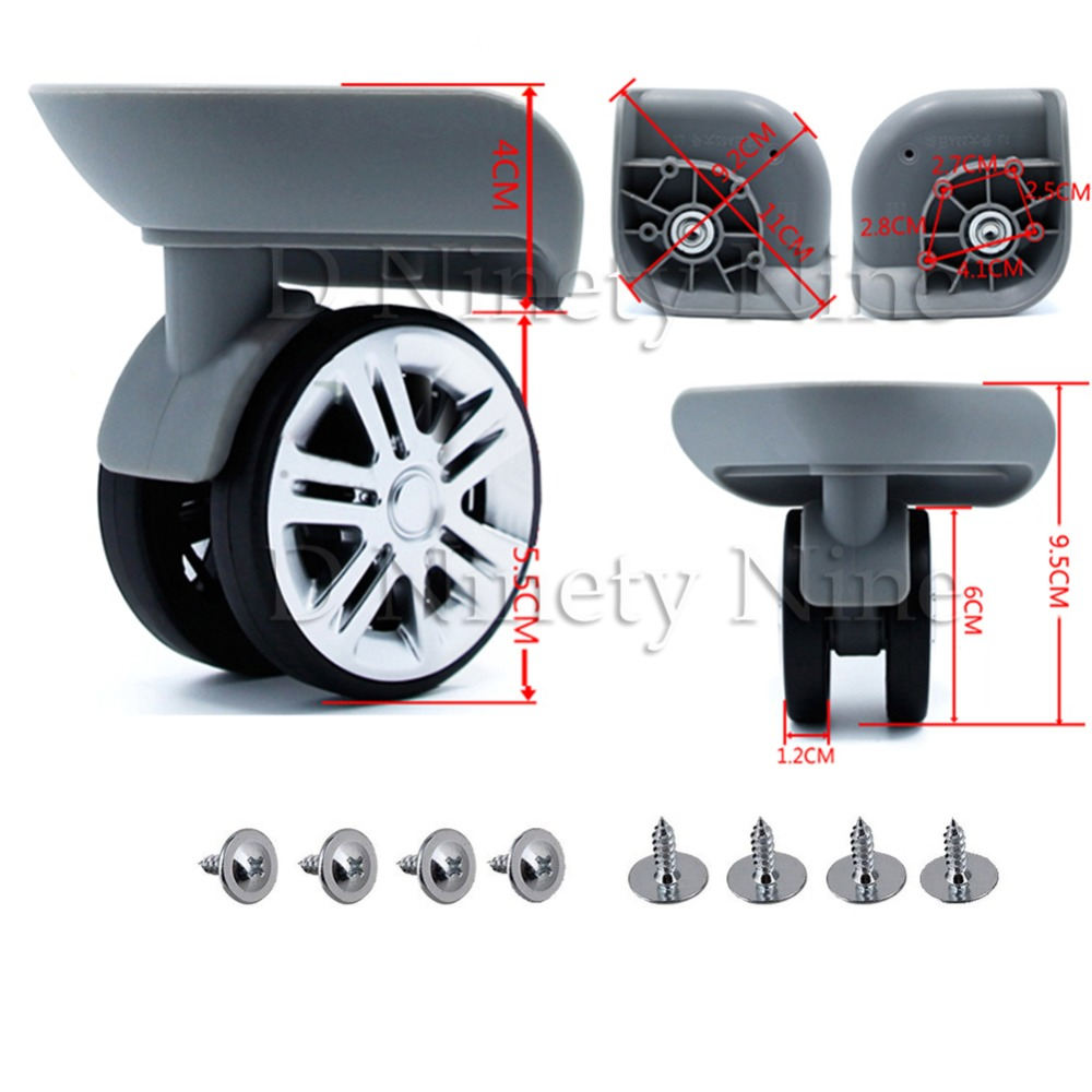 2Pcs A65 Mute Wheel Trolley Luggage Wheels Accessories Caster For Batch Replacement Luggage Parts Wheels Suitcase Repair new luggage replacement wheels suitcase repair replacement parts 360 spinner upright mute high quality wheels for suitcases 2pcs