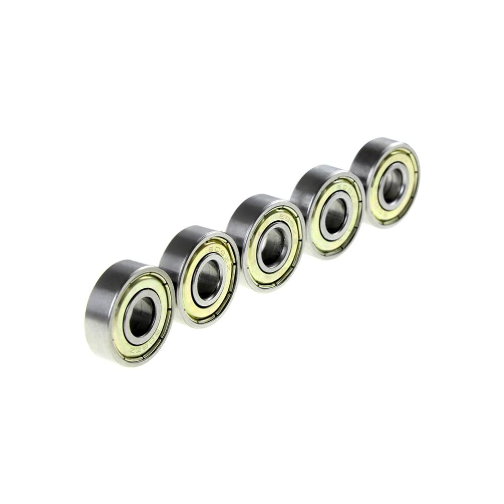 10pcs/lot  Swing Car Scooter Wheel Vigor Board Roller Skates Parts ABEC-5 Deep Groove Ball Bearing 8*22*7mm 608ZZ/2z